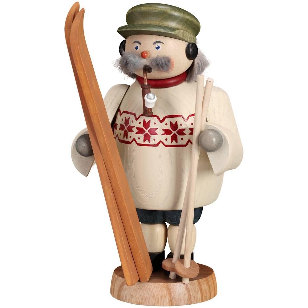 Räuchermännchen Skifahrer 19 cm