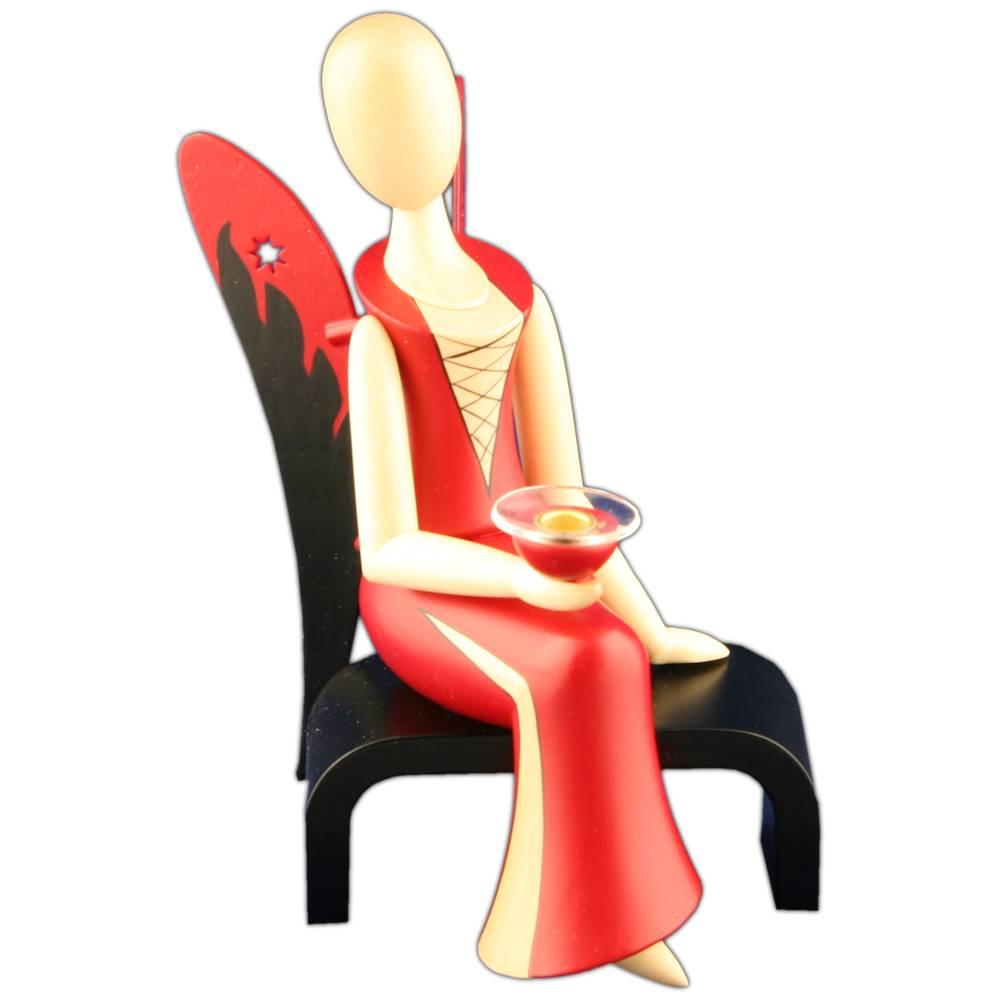 Design-Engel Sexy Lady sitzend
