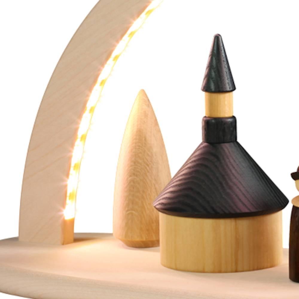 LED-Leuchterbogen groß Seiffener Kirche