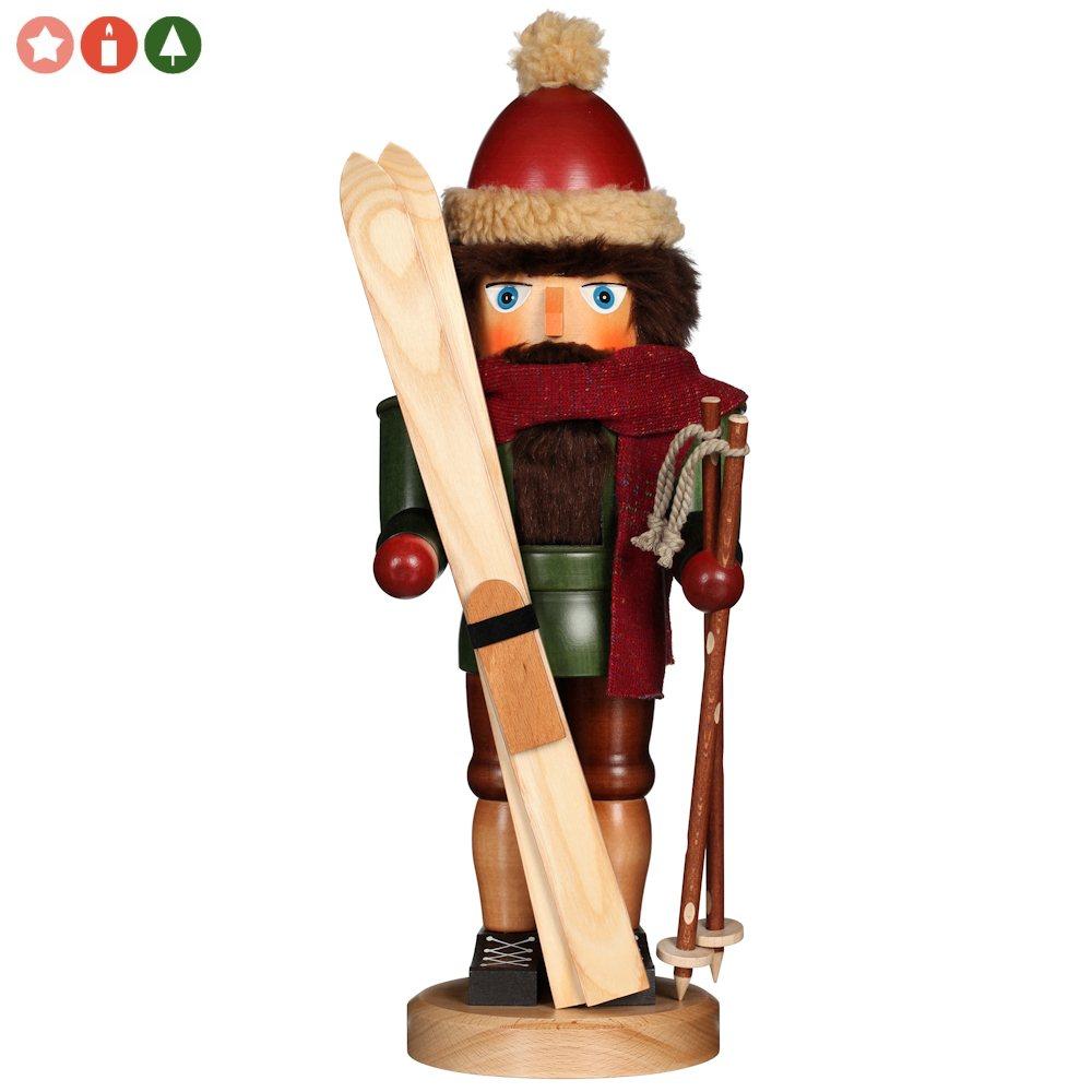 Ulbricht Nussknacker Skifahrer mit Schal