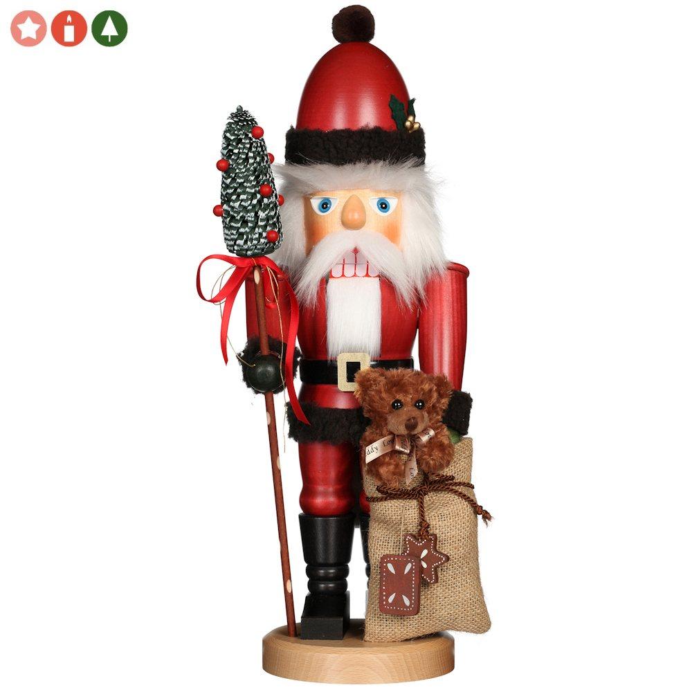 Ulbricht Nussknacker Weihnachtsmann mit Teddy