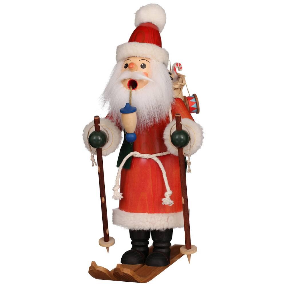 Räuchermännchen Weihnachtsmann auf Ski