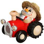 Kugelräuchermännchen Bauer im Traktor
