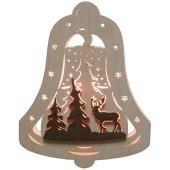 Fensterbild Glocke Waldmotiv
