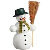 Räuchermännchen Schneemann mit Besen