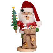 Räuchermännchen Weihnachtsmann mit Geschenkesack